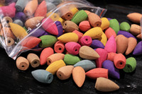 incienso rosa al por mayor-70 PC / bolso hueco Reflujo Incienso Natural Lavanda Rose Conos de incienso de sándalo