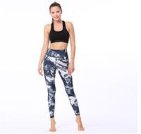 ingrosso tipo leggings-Leggings sportivi da donna Pantaloni da yoga Leggings da palestra stampati a vita alta Pantaloni sportivi da compressione Pantaloni sportivi traspiranti elasticizzati Quick Dry