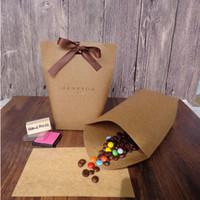 yeni hediye kağıdı toptan satış-Yeni Merci Bow Alışveriş Hediye Çanta Festivali Parti Malzemeleri Hediye Paketi 13.5X16.5cm ile You Hediye Karton Pişirme Takı Karton Kağıt Poşet ederiz