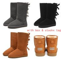 Wholesale boots large for sale - Group buy 2019 Australia Women Snow Boots Genuine Cowhide Leather Ankle Boots Warm Winter Boots Woman shoes large size