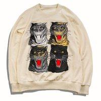 ingrosso uomini di felpa della leopardo-New Autumn Men 4 Different Leopard Felpe O Collo Pullover Felpe Felpe Uomo Abbigliamento Hip Hop