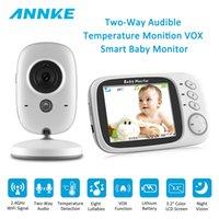 ir radyo toptan satış-Annke 3.2 inç kablosuz video akıllı ir bakıcı iki yönlü konuşma dadı radyo kamera gece görüş 8 ninniler sıcaklık bebek monitörü