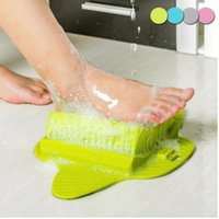 Wholesale foot massager online - Foot Bath Shower Brush Spa Washer Cleaner Exfoliating Feet Scrubber Massager hanging Foot Care With Sucker AAA1624
