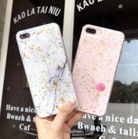 bling couvre pour les téléphones cellulaires achat en gros de-Cas de téléphone portable de paillette de paillette de marbre de clinquant de clinquant d'or