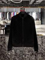 casacos de lã de qualidade venda por atacado-2019 outono e inverno novo mens designer de veludo de luxo de lã cor preto e azul jaqueta TAMANHO Asiático ~ tops homens jaqueta bomber de alta qualidade