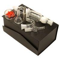 ingrosso ciotola di olio di titanio-Nector 3.0 Kit 14mm 19mm Joint Oil Rig Curvo Glass Bowl Chiodo Titanium Nail Miele Straw Bong in vetro Dab Rig