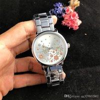 relógio feminino flor pulseira venda por atacado-Reloj mujer pulseira de luxo strass relógio de pulso das senhoras se vestem nova flor cheia de diamantes relógio marca das mulheres relógios de grife para o relógio da mulher