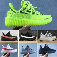 Wholesale boys fashion sneakers resale online - True Form Infant V2 Hyper space Kids designer shoes Clay Kanye West Fashion toddler trainers big small boy girl Children Toddler sneaker