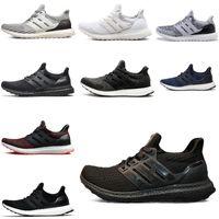 zapato deportivo mujer gris al por mayor-Ultra Boost 3.0 4.0 Triple Negro Blanco Primeknit Oreo CNY gris azul Hombres Mujeres Zapatos de funcionamiento Ultra Aumenta La ultraboost las zapatillas deportivas