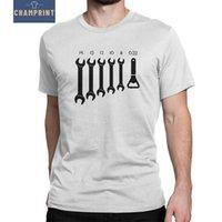 Wholesale screws sleeve resale online - Screw Wrench Opener Mechanic T Shirts Men Car Fix Engineer Vintage Cotton Tee Shirt Short Sleeve T Shirts XL XL XL Clothes