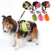 büyük köpekler için koşum takımı toptan satış-Açık Yürüyüş Kamp Eğitim Taşıyıcı Ürün LJJA1934 İçin Büyük Pet Köpek Eyer Çanta katlanabilir Paketi Sırt Çantası Orta Büyük Harness Hayvan Çanta