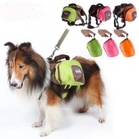 Wholesale harness pets for sale - Large Pet Dog Saddle Bag foldable Pack Backpack Medium Big Harness Animal Bag For Outdoor Hiking Camping Training Carrier Product AAA1934