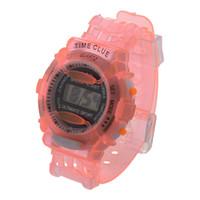 ingrosso ragazzi orologio arancione-Orologio da polso sportivo da polso digitale impermeabile da polso da bambina, da bambina