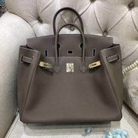 altın gümüş çanta toptan satış-Çanta Tasarımcısı Kadın çantaları Gündelik deri tote Lüks togo deri toza ya altın ya da gümüş donanım ile paketlenmiş