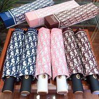 équipement de pluie de mode achat en gros de-Mode Full Lettre Parasol pour Femmes Parasol Pluie UV Sun Parapluie pour Mère Windproof Rain Gear pour Cadeau D'anniversaire