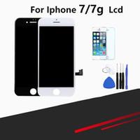 outils d'assemblage iphone achat en gros de-LCD pour iphone 7 écran tactile de remplacement du numériseur Assemblée pour iphone 7 avec kit de protection d'écran