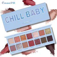 Wholesale nude cosmetics resale online - CmaaDu Color Nude Shining Eyeshadow Palette Makeup Glitter Pigment Smoky Eye Shadow Pallete Waterproof Cosmetics