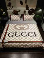 colcha de flores de laranja venda por atacado-Conjuntos de cama de luxo designer rei ou rainha conjuntos de cama conjuntos de cama 4 pcs consolador de cama de luxo edredons conjuntos
