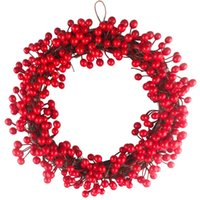 Wholesale garland berries for sale - Group buy 30cm cm cm Jungle Party Berry Decoration Wreath Red Fruit Garland Wall Door Pendant Christmas Ornament Wedding Decorations