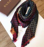 Wholesale wool silk pashmina scarf shawl resale online - 2019 NEW Cashmere Silk Scarf shawl Pashmina for Women Hot Ladies Colorful Brand Square Wool Winter Warm Scarves Scarfs x140CM c525