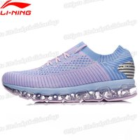 Wholesale li ning shoes resale online - Li ning Women Ln Arc Air Cushion Running Shoes Breathable Sneakers Lining Li Ning Sock like Sport Shoes Arhn044 Xyp630