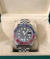 ingrosso mens orologio rosso blu band-Versione aggiornata Orologio di alta qualità di lusso RED / BLUE II 116710 40MM Orologio automatico da uomo con cinturino in movimento Eta .2813