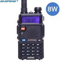ingrosso walkie 8w-Baofeng UV-5R 8W alta potenza walkie-talkie Trile potente potenza UV5R8W stazione radio CB VHF UHF Dual Band UV 5R 8W radio bidirezionale