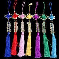 Wholesale chinese knot tassels for sale - Group buy Car Home Feng Shui Coins Wealth Success Chinese Knot Lucky Coins Five Emperor Money Tassel Ornament