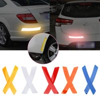 Wholesale car eyebrow lights resale online - LEEPEE Reflector Protective Sticker Reflective Warning Strip Stickers Car Wheel Rim Eyebrow Safety Warning Light