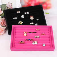 Wholesale stand 21 resale online - 1PC Purple Jewelry Box Earrings Rings DisplayJewelry Display Stand Holder Rack Showcase for Ring Earring Necklace Display