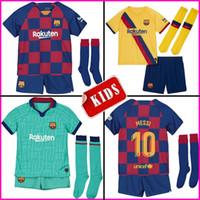 setzt messi großhandel-2019 2020 Fußball Trikot Barcelona Kinder Sets 19 20 Barca Messi GRIEZMANN DE JONG Rakitic Jungen Fußball Trikot mit Socken