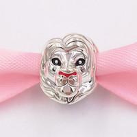 Authentische 925 Sterling Silber Perlen Disny Siba Lion Charm Charms Passt Europäische Pandora Style Schmuck Armbänder Halskette 798049ENMX