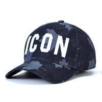 ingrosso cappelli di esercito di qualità-DSQICOND2 Casquette di marca di alta qualità cappello modello solido lettere lettere ICON Casquette Berretto da baseball Snapback Cap per uomo donna