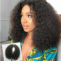 Wholesale human hair curls for afro resale online - Celebrity natural Human density Short Afro Kinky Curl Bob Lace Front Wig For African Women pre plucked lace frontal wig inch