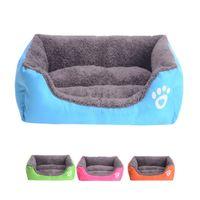 luxus haustiermatte großhandel-2019 neue Luxus Haustier Hund Katze Welpen Warme Weiche Korb Bett Pad Matte Kissen Waschbar 10 Farben