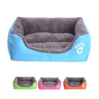 lüks pet mat toptan satış-2019 Yeni Lüks Pet Köpek Kedi Köpek Sıcak Yumuşak Sepet Yatak Pedi Mat Yastık Yıkanabilir 10 Renkler