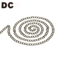 Wholesale antique bronze findings for sale - Group buy DC Meter Antique Bronze Bulk Metal Iron Link Curb Chains Double Ring mm for Necklace Bracelet DIY Jewelry Making Finding