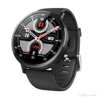 relógio elegante lemfo venda por atacado-LEM X 4G Inteligente Relógio GPS Sim WI-FI 2.03 Polegada Tela de 8 milhões de pixels Câmera de Freqüência Cardíaca LEMFO LEMX Smartwatch para Homens Mulheres