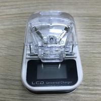 carga los cargadores de batería para al por mayor-Cargador de batería universal para teléfono celular Cargador de LCD Solo cargador USB Cargador de viaje de EE. UU. Con caja al por menor 100pcs / up
