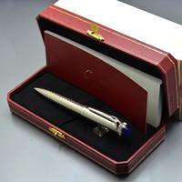 ingrosso scrivere penna a sfera-Spedizione gratuita - Top Luxury Cartler Branding Metal Penna a sfera Penna a sfera Articoli di cancelleria per la scuola. Scrittura di penne a sfera liscia