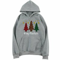 Wholesale s clothes tree resale online - Women Sports Sweaters Trainning Exercise Clothes Christmas Tree Print Long Sleeve Sweatshirt Female Xmas Hooded Pullover Tops