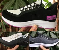sapatos de lona brancos unisex venda por atacado-Bran Zoom 35 Tênis para Homens Sapatos de Grife Mulheres Sneakers preto branco cinza Formadores de luxo unisex esportes casuais sapatos de lona da UE 36-45