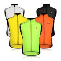 Wholesale waterproof outdoor vest resale online - WOLFBIKE Vest Riding Sleeveless Jacket Cycling Sportswear Men Windbreak Ventilation Outdoor Sports Colors Mix wf F1