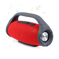 dış mekan ses kutusu toptan satış-Mini Boombox Açık Kablosuz Su Geçirmez Bluetooth Hoparlör 10 W Subwoofer Ses Box Destek Eller Serbest TF / USB Müzik Çalar Akıllı Telefon Için
