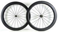 venda de bicicletas de estrada de carbono venda por atacado-Venda quente, bicicleta de estrada de carbono roda, 60 mm clincher / tubular, 700C x 23 bicicleta de estrada de carbono rodado frete grátis