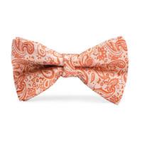 gravatas laço alaranjado venda por atacado-Oi-Tie Crianças Bowtie Gentleman Boy's Laranja Floral Laços Moda Bowknot Kid Vestuário Acessórios Cravat LH-063