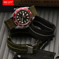 молодежные часы оптовых-SIKAI Новый 20мм нейлоновый ремешок для часов Для тиковых часов E Band Ремешок Для хуами amazfit молодежные бип часы 21мм 22мм нато эластичный
