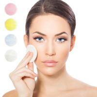 almohadilla de limpieza facial cara al por mayor-Almohadilla removedora de maquillaje de algodón de bambú, cuidado de piel reutilizable, toallitas faciales, lavable, limpieza profunda, herramienta cosmética, removedor de maquillaje redondo, almohadilla HHA346