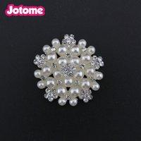 düğün davetiyeleri için süslemeler toptan satış-Ucuz Inci Diamante Rhinestone Toka Düğmeler Düğün Davetiyesi Alaşım Kristal Flatback Düğmeler Düğün dekorasyon için