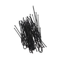 ingrosso accessori dei capelli messicani-50pcs Thin U Shape capelli Bobby Pin Black Metal Clips Strumenti e accessori per capelli H13524